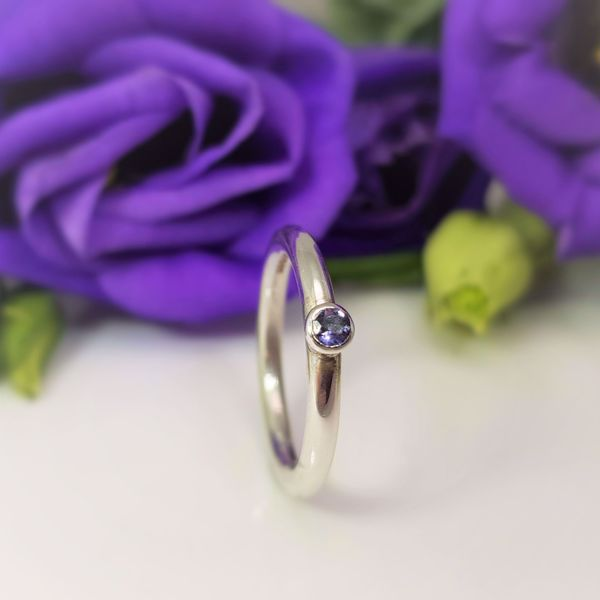 Picture of Silver gemset stacking ring