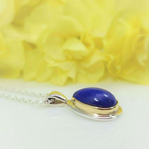 Picture of Tear drop lapis pendant